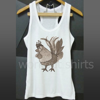 Rooster tank top chicken shirt workout tops size S M L XL printed t shirt sleeveless tank/ singlet/ unisex clothes