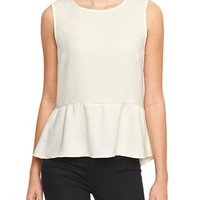 Gap Women Factory Textured Peplum Tank