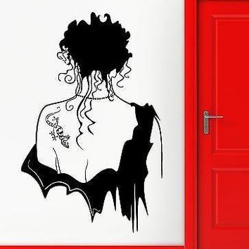 Wall Stickers Vinyl Decal Hot Sexy Girl Gothic Beautiful Tattoo Decor  Unique Gift (ig1816)