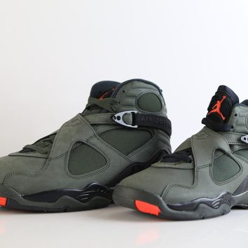 BC SPBEST Nike Air Jordan Retro 8 Take Flight Sequoia Green Max Orange 305381-305 Adult and GS