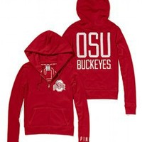 Ohio State University Perfect Full Zip Hoodie - PINK - Victoria's Secret