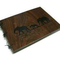 Set of 2 Personalized Wood Photo Album Extra Large14x20 -  Woodburnt With Your Design