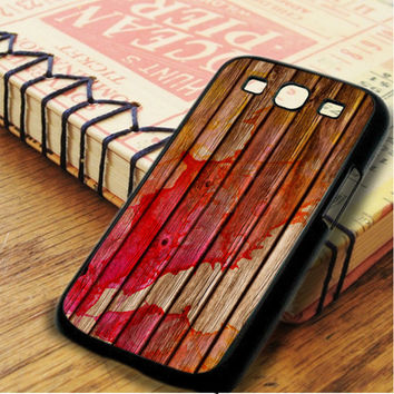 Watercolor In Wood Samsung Galaxy S3 Case