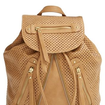 Women's LP Blue 'Zoe' Perforated Zip Backpack
