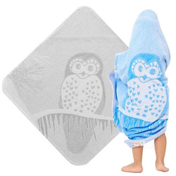 Baby & Toddler Organic Hooded Towel - Owl