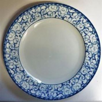 Oneida Blue Heather Porcelain China, 48 piece, setting for 8, including serving dishes.