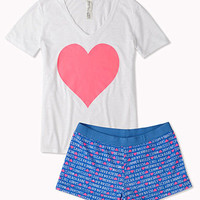 Heart Summer PJ Set | FOREVER 21 - 2044326031