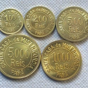 Misericordia Leper Colony Brazil 1920 Rare Complete Set  Copy Coin commemorative coins-replica coins medal coins collectibles