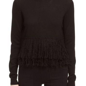 McQ by Alexander McQueen Fringe Crewneck Sweater | Nordstrom