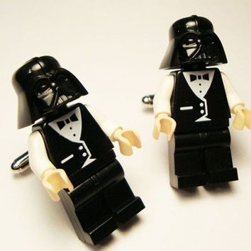 Full body Darth Vader wedding suit LEGOS on silver by crimsonking