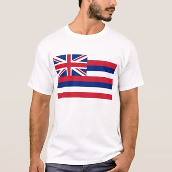 T Shirt with Flag of Hawaii State USA