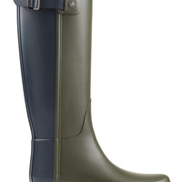 Hunter - Tall Refined Back Strap Rubber Wellingtons