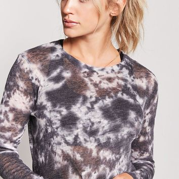 Active Semi-Sheer Tie-Dye Top