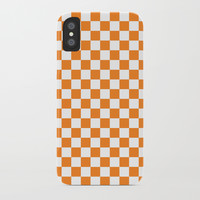 Orange Checkerboard Pattern by CoolFunAwesomeTime
