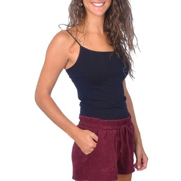 Burgundy Draw String Shorts