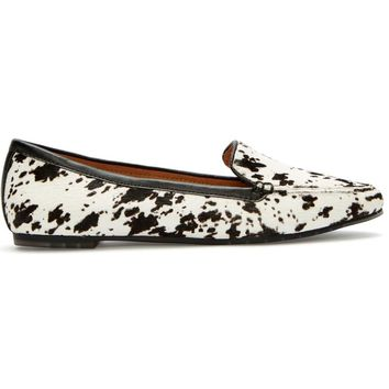 Me Too Audra - Black/White Printed Calf Hair Loafer