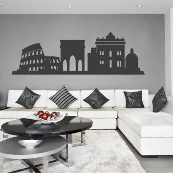 ik2378 Wall Decal Sticker city Rome Italy panorama sights living room bedroom