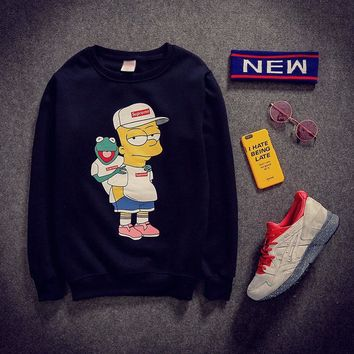 Cartoons Print Long Sleeve Pullover Hoodies [103806304268]