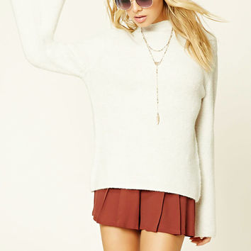 Contemporary Mock Neck Sweater