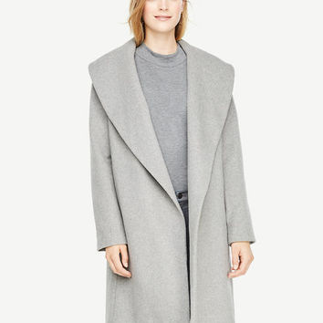 Shawl Collar Wrap Coat | Ann Taylor