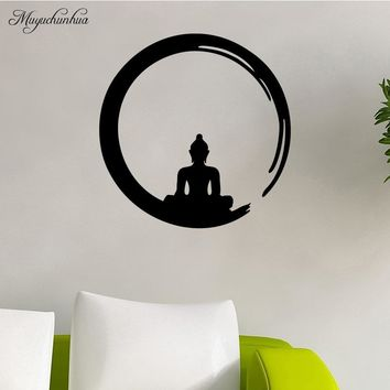 Muyuchunhua Meditate People Modern Art Fashion Wall Sticker for Decor Living Room Bedroom Vinilos Decorativos Para Paredes