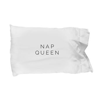 Nap Queen Funny Lazy Sunday Drinking Bedding Pillow Case