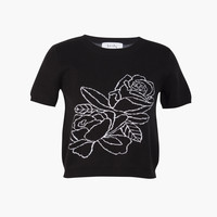 Rose Tee Black - Lonely Label