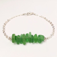 Green Hawaiian Sea Glass Bracelet