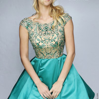 Sherri Hill 32273 Pocketed Satin Jeweled Dress
