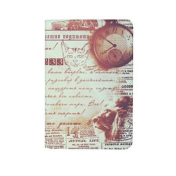 Vintage Old Paper Leather Passport Holder Protector Cover_SUPERTRAMPshop