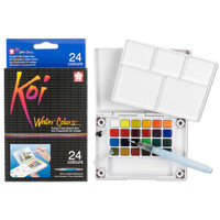 Koi Water Colors™ Pocket Field Sketch Box, 24 Colors