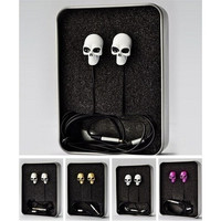 WOWO Headset Metal Skull Crossbones Earphone Jack 3.5mm Earbuds Headphone in-ear Earphones with retail Box = 1929651844
