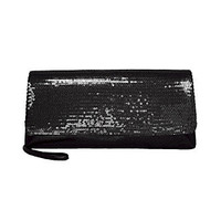 Product: La Regale® Sequin Soft Clutch - Black