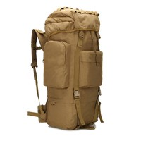 2017 Men camouflage backpack 65L military bag waterproof travel backpacks mountaineering bag Large capacity Backpack