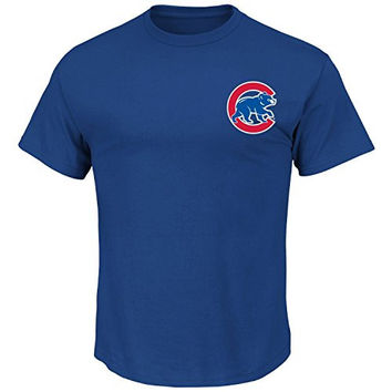 Jon Lester #34 Chicago Cubs MLB Youth Player Name & Number T-Shirt Blue (Youth Large 14/16)