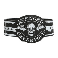 Avenged Sevenfold Dripping Paint Die-Cut Rubber Bracelet