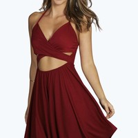 Evie Strappy Cross Front Skater Dress