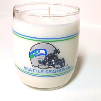 Seattle Seahawks Candle - 14 oz glass soy candle - CHOICE OF SCENT