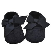 Lollie Lace & Bow Baby Shoes