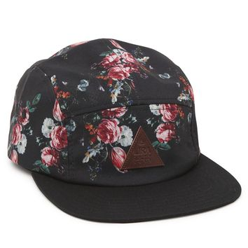 Lira Real Floral Camper 5 Panel Hat - Mens Backpack - Black - One