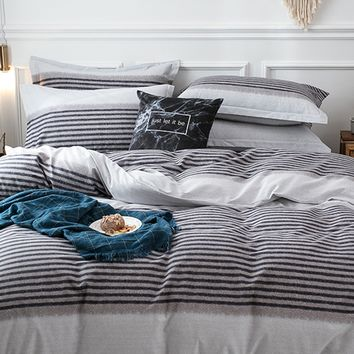 Striped Print Duvet Cover 1PC