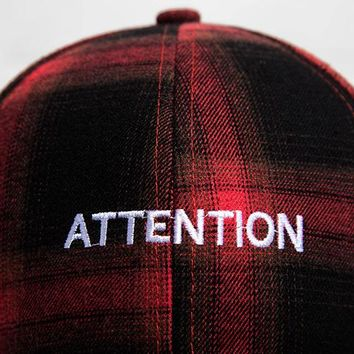 Tartan Cute, Graphic, Cool Baseball Cap - Attention Adjustable Plaid Snapback Hat