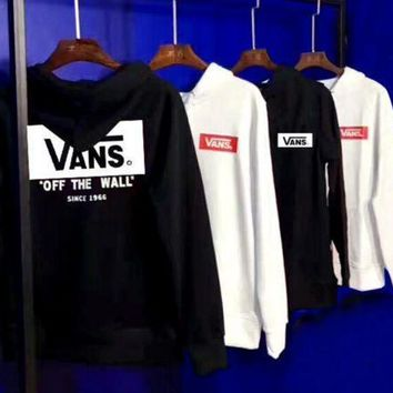 ESBONV Vans Fashion Casual Pullover Long Sleeve Hoodie Print Sweater