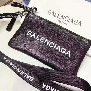 Balenciaga Fashion Women Men Zipper Leather Purse Wallet Mobile Phone Package I-AGG-CZDL