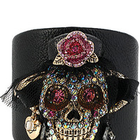 CREEPSHOW SKULL LEATHER CUFF
