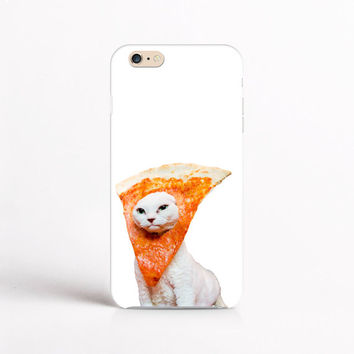 White Pizza Cat White iPhone Case For - iPhone 6 Plus Case - iPhone 6 Case - iPhone 5C Case - iPhone 5 Case - iPhone 4 Case (MP30F)