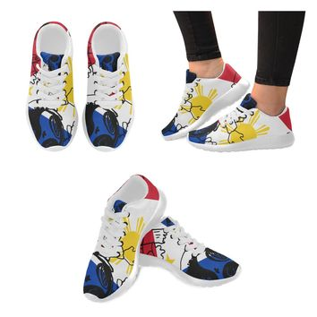 """""""Zombie Moodlins Philippines"""" Sneakers by Moodlins Apparel and Novelty"""