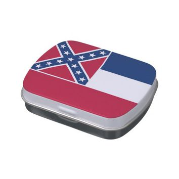 Patriotic candy tins with Flag of Mississippi