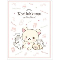 A4 Clear Holder 10 Pockets White Korilakkuma Cat San-X Japan Rilakkuma - VeryGoods.JP
