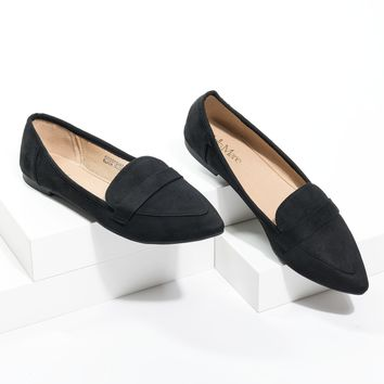 Pointed Loafer Flats